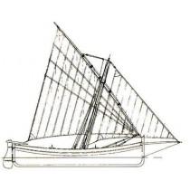 GOZZO, Küstenmotorschiff unter Segeln