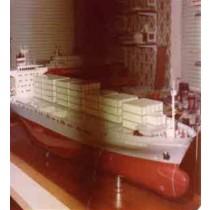 AMBROSIA, Containerschiff, Polystyrolrumpf mit Plan
