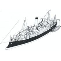 FULGERUL, rumänisches Fluss Kanonenboot (Donau)