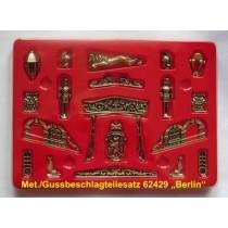 BERLIN, Brandenburgische Fregatte 1674, Beschlagsatz, Metall, Guss