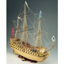LE MIRAGE. Admiralitätsschiff_ Baukasten mit Segel