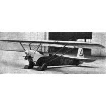LUTON MINOR (Spannweite 1588 mm) Leichtflugzeug. Short Kit mit Plan