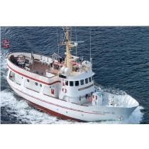 HAGBART WAAGE. Ehemaliges norwegisches Seenotrettungsboot. Ausflugsschiff