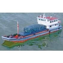 FRACHTKAHN, Typschiff eines Frachtkahns aus China