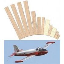 BAC JET PROVOST T. 3T. 4 (Spannweite 970 mm). Lasergeschnittener Rippensatz mit Plan.