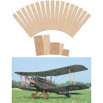 ROYAL AIRCRAFT FACTORY SE 5A (Spannweite 1860 mm). Laserteile ohne Plan