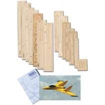 KYTEN (Spannweite 1118 mm). Laserteile, Canopy, Tragfächenendspitze und Plan
