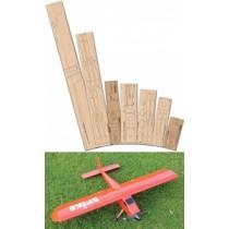 AEROSPIKE (Spannweite 1206 mm). Laserteile ohne Bauplan