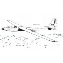 SCHLEICHER ASW 17 (Spannweite 4000 mm). Canopy mit Plan