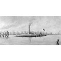 CSS MANASSAS, Monitor,1861, Südstaatenschiff. Confederate States Ship
